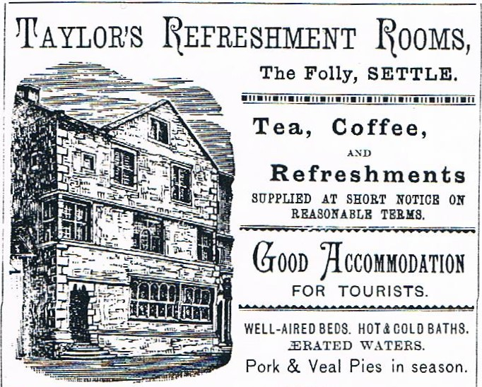 An advert for Taylor's Refreshment Rooms