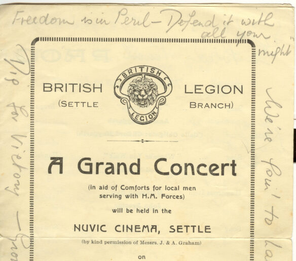 """Front cover of the Nuvic programme advertising """"A Grand Concert"""""""