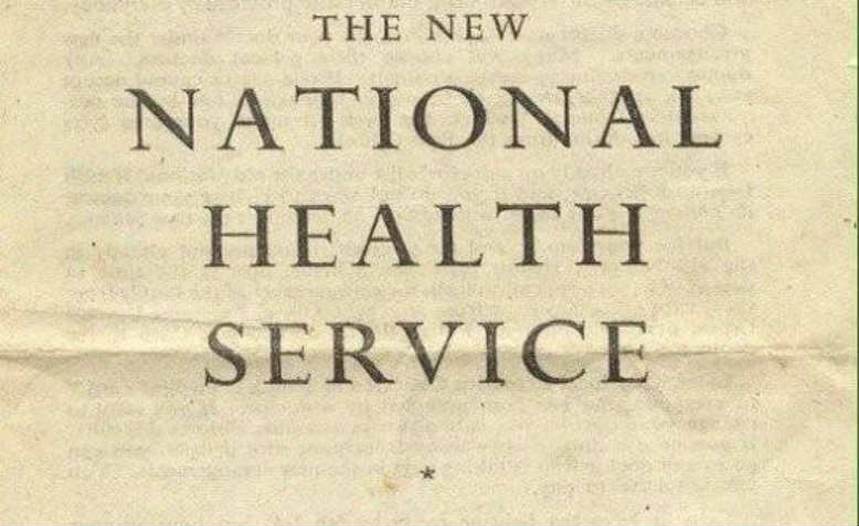 """Leaflet page reading """"The New National Health Service"""""""